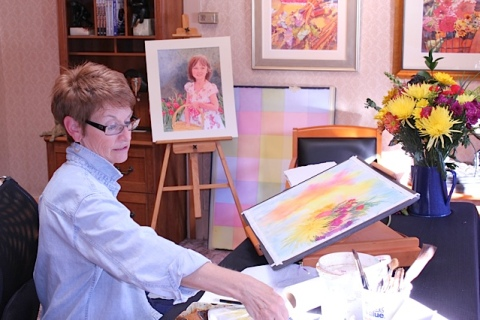 Pat Howard's watercolors have won numerous awards across the country.