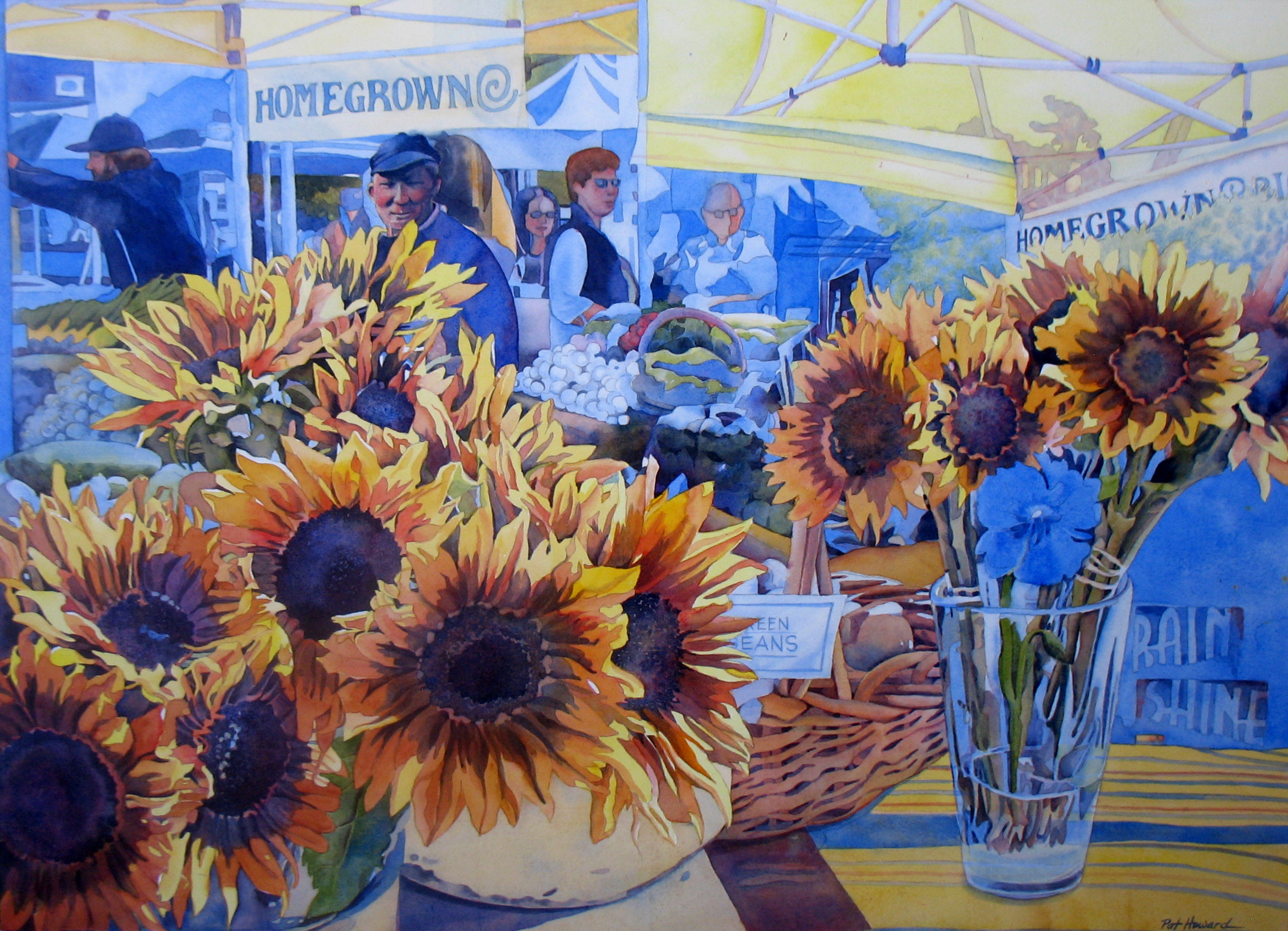 """Sunflowers at the Market"" by Pat Howard"