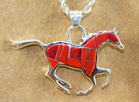 Reversible Running Horse Pendant