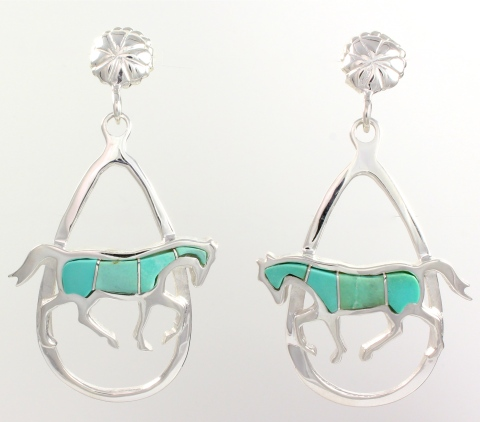 Walking Horse Earrings by Ben Nighthorse