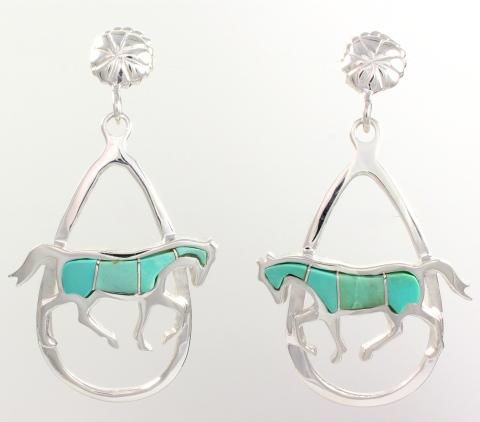 Walking Horse Earrings by Ben Nighthorse