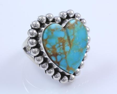 Turquoise Heart Ring_Yellowhorse