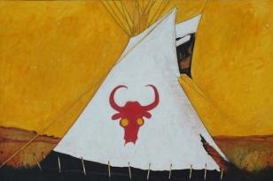 Red Buffalo Bull Tipi_RedStar