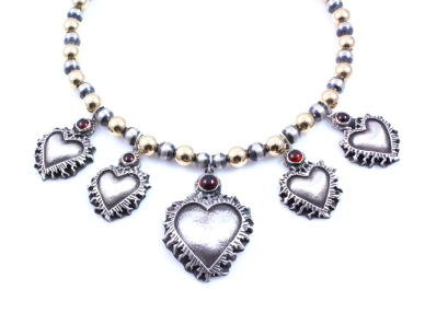 L Baca - 5 Sacred Heart Charm Necklace.JPG
