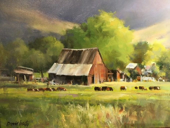David Marty - Valley Farm - Oil on Canvas 12x16.JPG