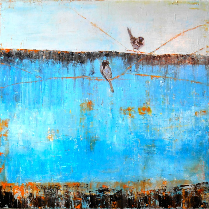 SSG-Janice Sugg-Blue Horizon with Birds-Oil on Canvas 30x30.jpg
