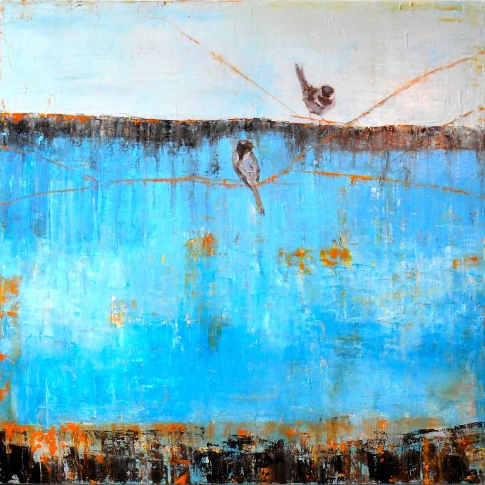SSG-Janice Sugg-Blue Horizon with Birds-Oil on Canvas 30x30.jpg