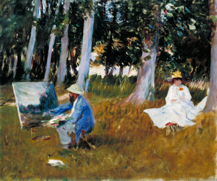 John Singer Sargent, Claude Monet Painting by the Edge of a Wood_Tate Gallery in London.png