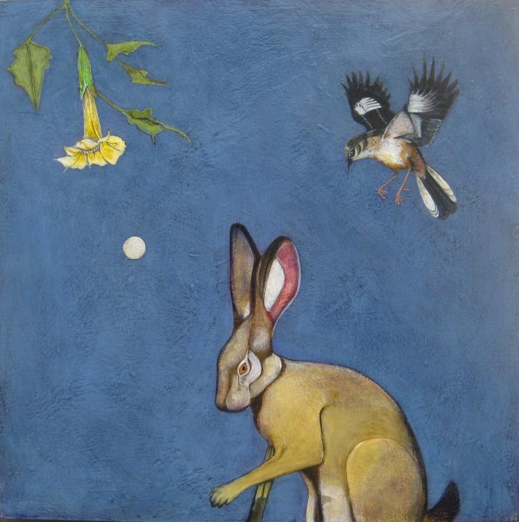 SSG-Phyllis Stapler-The Moon Hare-Acrylic 24x24.JPG
