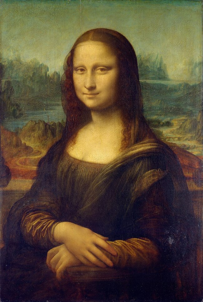 Mona Lisa by Leonardo da Vinci c 1503–1506 perhaps continuing until c 1517 Louvre Paris.jpg