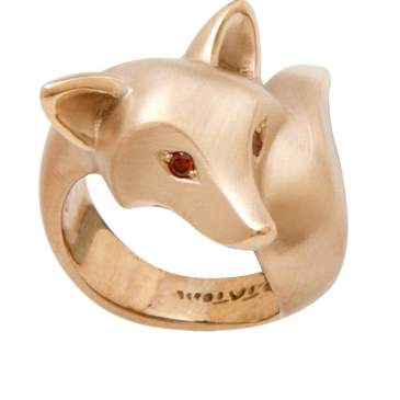 Gold Fox Ring by Michael Tatom