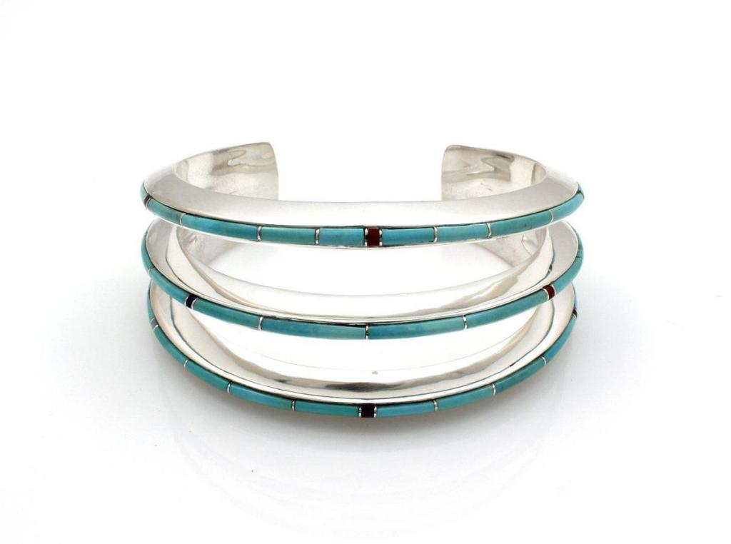 Triple Slim Line Cuff Bracelet by Ben Nighthorse