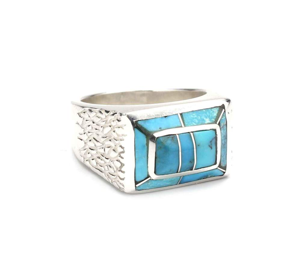 Sterling silver and turquoise ring by Ben Nighthorse