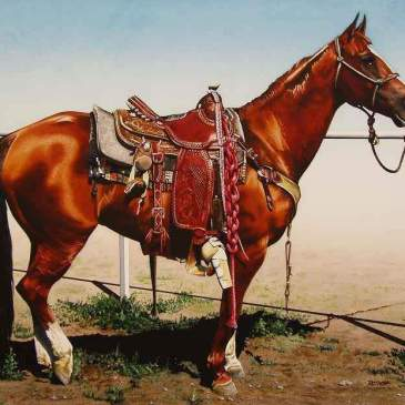 Painting of a Cow Pony by Marlin Rotach