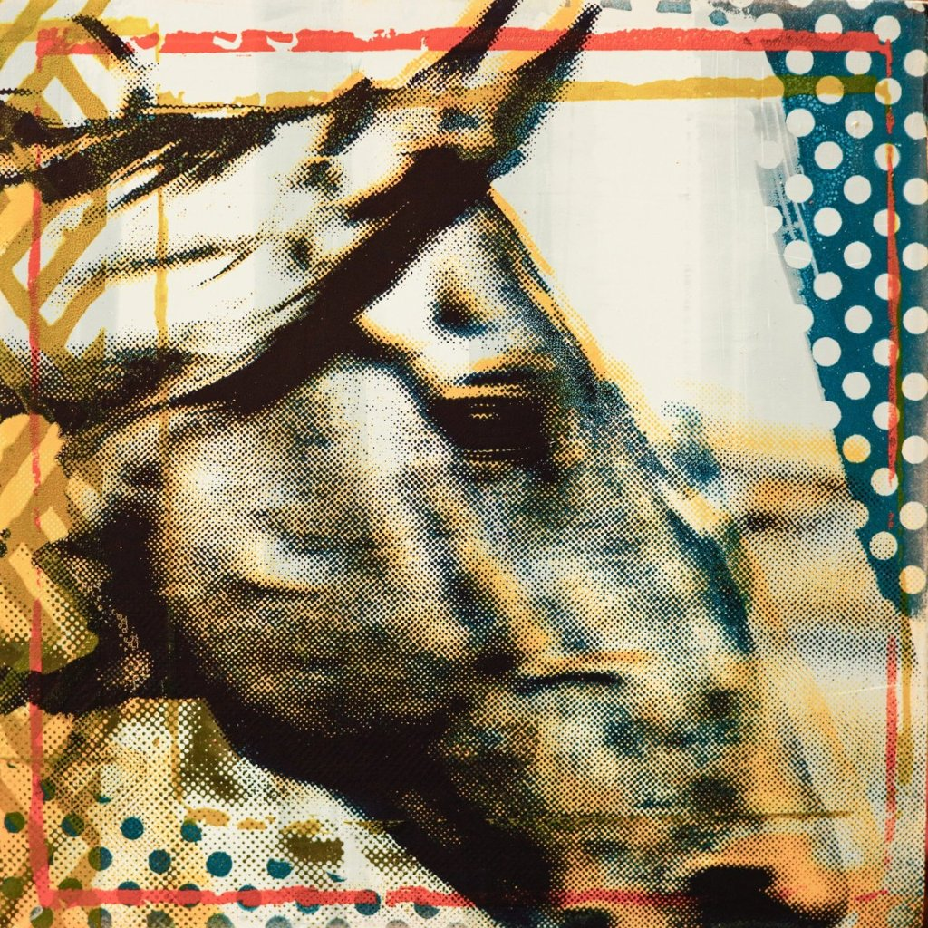 Painting of a horse's profile by Maura Allen as seen at Sorrel Sky Gallery